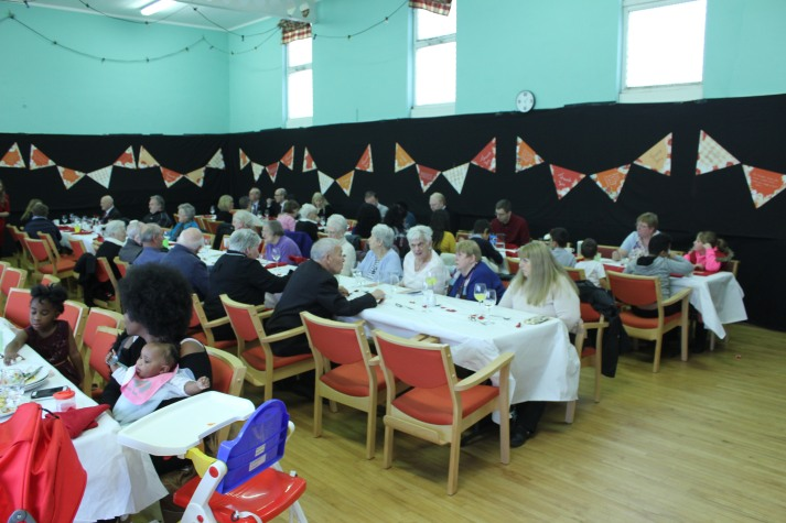 people enjoying their lunch
